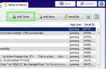 history - add ticket