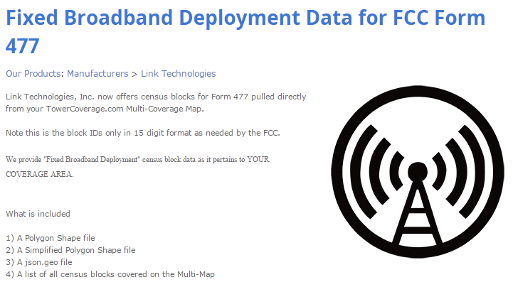 FCC Broadband Deploymment Data, FCC Form 477